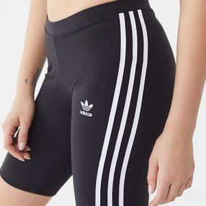 Adidas Originals Black 3-Stripe Cycling Shorts M